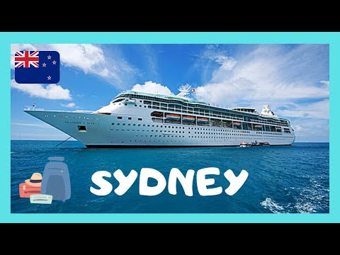 Luxurious CRUISE SHIP (Rhapsody Of The Seas) leaving SYDNEY'S HARBOUR (AUSTRALIA)
