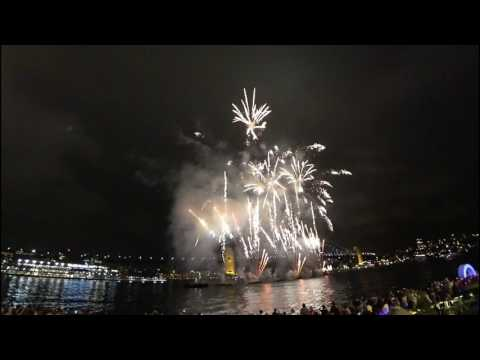 Australia Day Fireworks 2017 From The Sydney Opera House
