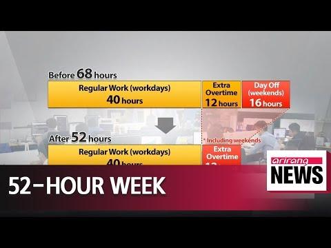 South Korea kicks off 52-hour maximum workweek