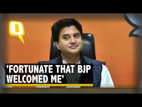 MP Political Crisis: Scindia Address Media from BJP Office in Bhopal