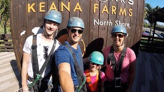 North Shore Zipline - CLIMB Works Keana Farms - Oahu Zipline
