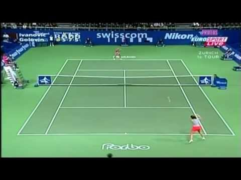 Ana Ivanovic vs. Tatiana Golovin 2004 Zurich Highlights