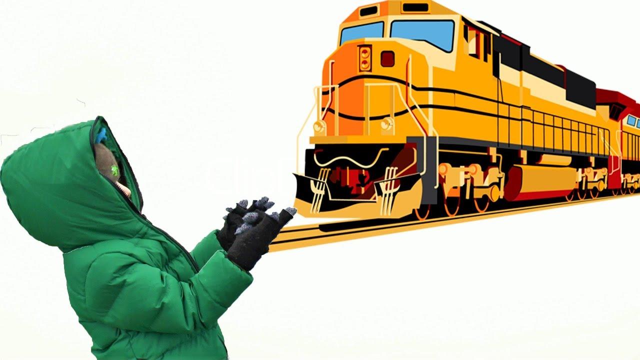 Видео про поезда - Едем смотреть поезда! Машинисты машут Максу