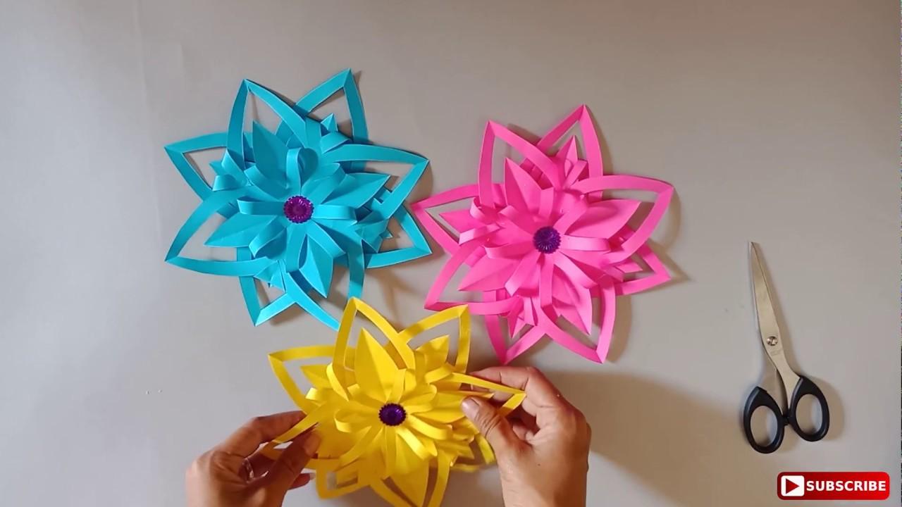 Cara Mudah Membuat Bunga Dari Kertas Krep Youtube