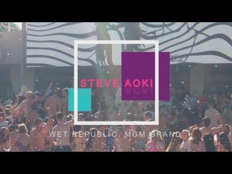 Las Vegas: Wet republic, MGM Grand pool party | Steve Aoki - Just hold on, Mi Gente