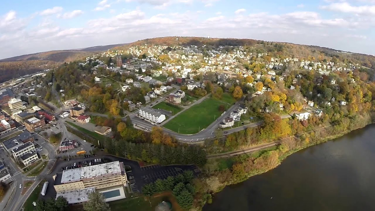 Oil City Pa Aerial View Youtube