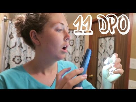 LIVE PREGNANCY TEST   11 DPO   EMOTIONAL!