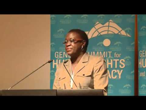 4th Geneva Summit: Jestina Mukoko, Zimbabwe