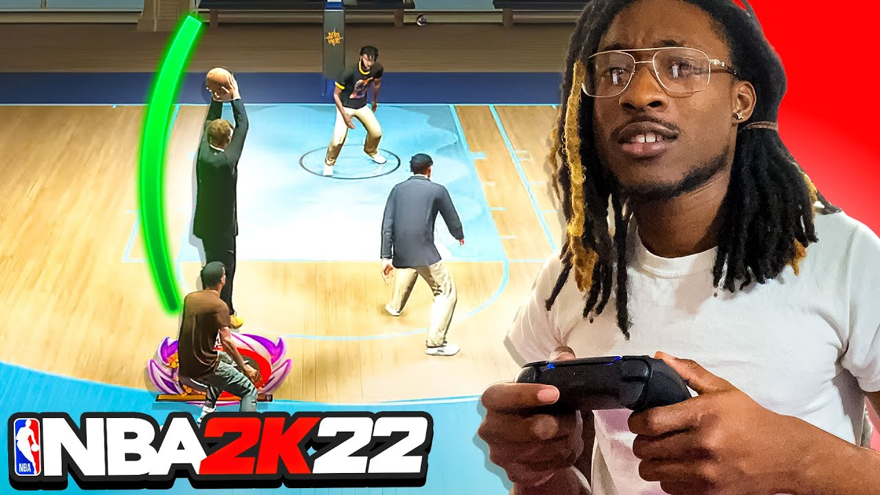 Download Prime's First Game in NBA 2K22 Current-Gen with a Demi-God Build went like this...