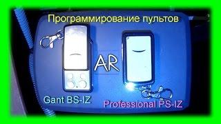 Программирование пультов для автоматики Gant BS IZ, Professional PS IZ