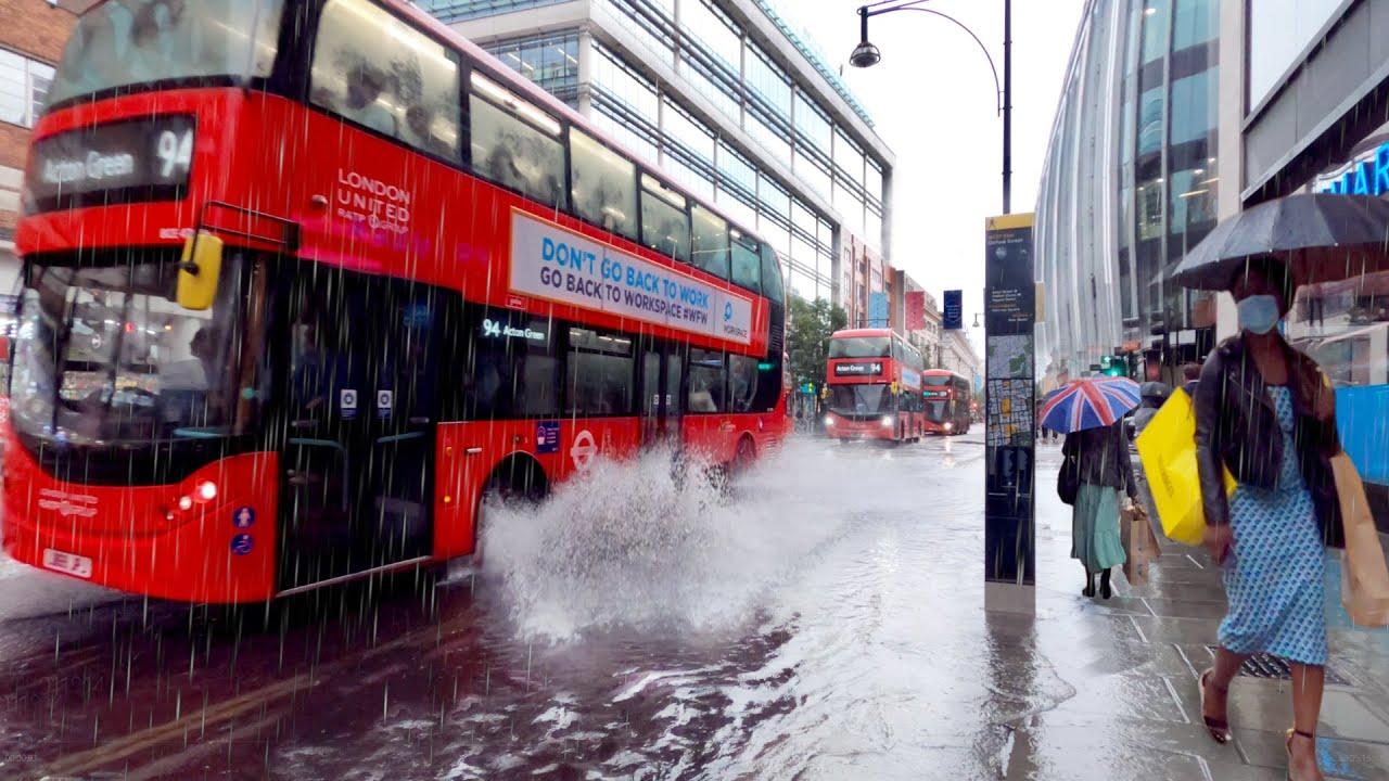 Download Heavy Rain 🌧in Oxford Street - July 2021   London Walking Tour [4K]