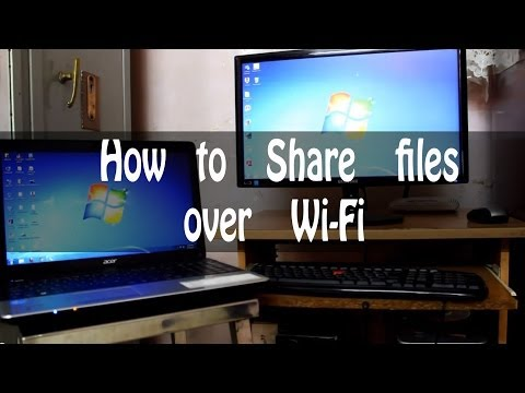 How to Share files/folders over Wi-Fi