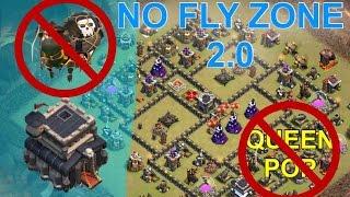 NO FLY ZONE 2.0 - Anti-Queen Pop TH9 War Base