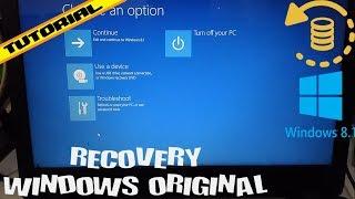 [TUTORIAL] Cara Recovery Windows 8.1 Original Untuk Semua Merk Laptop