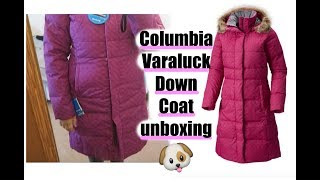 COLUMBIA WOMEN'S VARALUCK LONG HOODED DOWN JACKET Unboxing