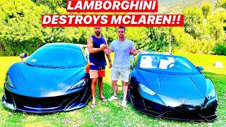 BRAND NEW 2020 LAMBORGHINI HURACAN EVO RACES MCLAREN 600LT *Shocking Results*