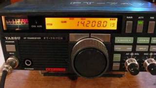 ham radio my qso with s52bb on my ft747gx g5rv