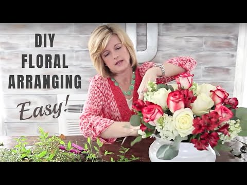 How To Make Floral Arrangements how to make floral arrangements and great floral design| diy - youtube