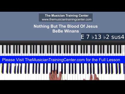 """Piano: How to Play """"Nothing But The Blood Of Jesus"""" by BeBe Winans"""