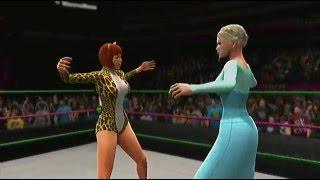 Elsa/Josie McCoy vs. Daphne Blake/Velma Dinkley