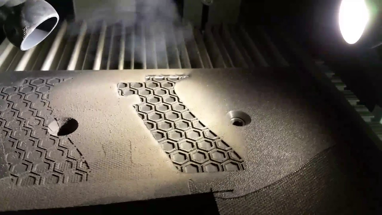 Laser Stippling Of Glock Polymer Grips With Z Tech S Ddl
