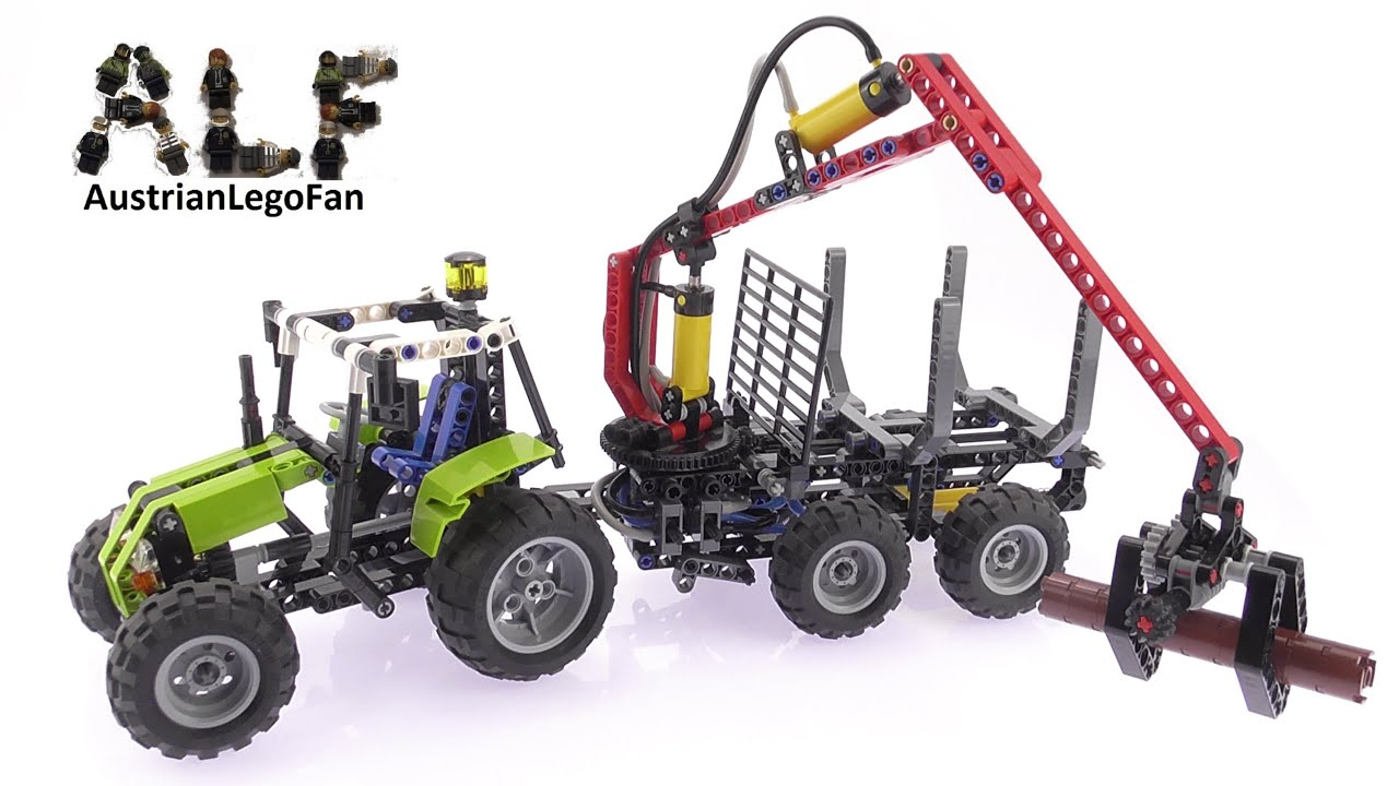 lego technic 8049 tractor with log loader lego speed. Black Bedroom Furniture Sets. Home Design Ideas