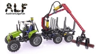 Lego Technic 8049 Tractor with Log Loader - Lego Speed Build Review