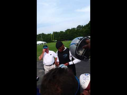 Cam Newton Panthers training camp 2014