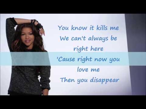 Zendaya bottle you up Acoustic lyrics