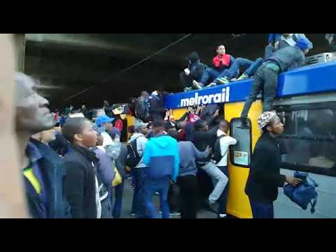 Overloaded South African 🇿🇦 Train in Cape Town, rivals train