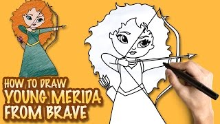 How to draw Merida from Brave - Easy step-by-step drawing lessons for kids
