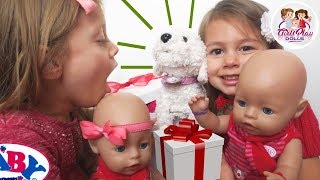 👶🏼👶🏼 BABY BORN TWINS' HUGE CHRISTMAS SURPRISE! 🐶 Day 12 - Baby Born Advent Calendar Series!🎄
