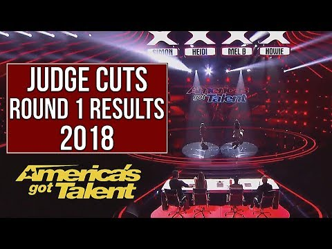 AGT RESULTS - JUDGE CUTS Round 1 |  America's got talent 2018