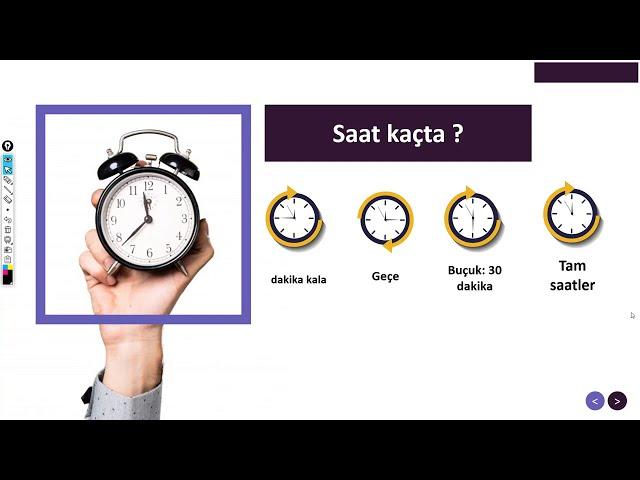الساعة و الوقت في اللغة التركية الدرس الثاني Saat kaçta