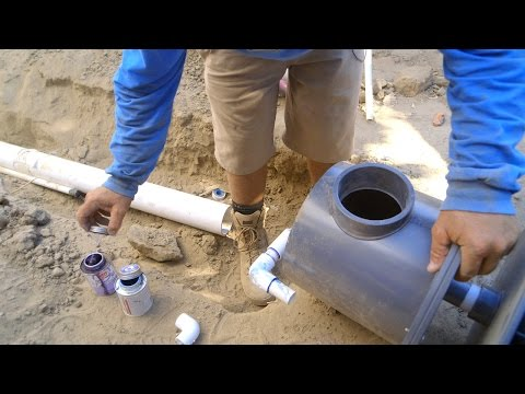 Installing the Koi Ponds Bottom Drain - Part 18