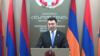Ուղիղ  Շարմազանովի ճեպազրույցը ՀՀԿ ԳՄ նիստից հետո