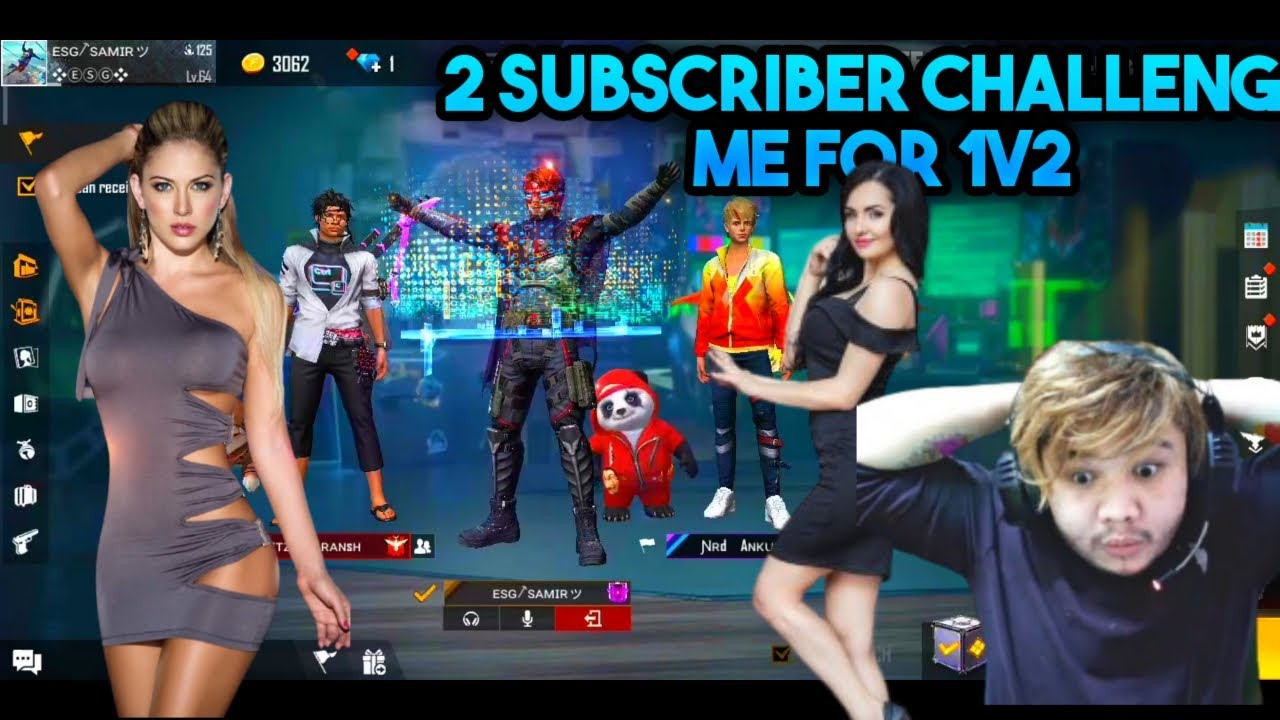 Download 2 SUBSCRIBER CALL ME NOOB AND I CHALLENGE THEM FOR 1V2 FREE FIRE HACKER 🔥