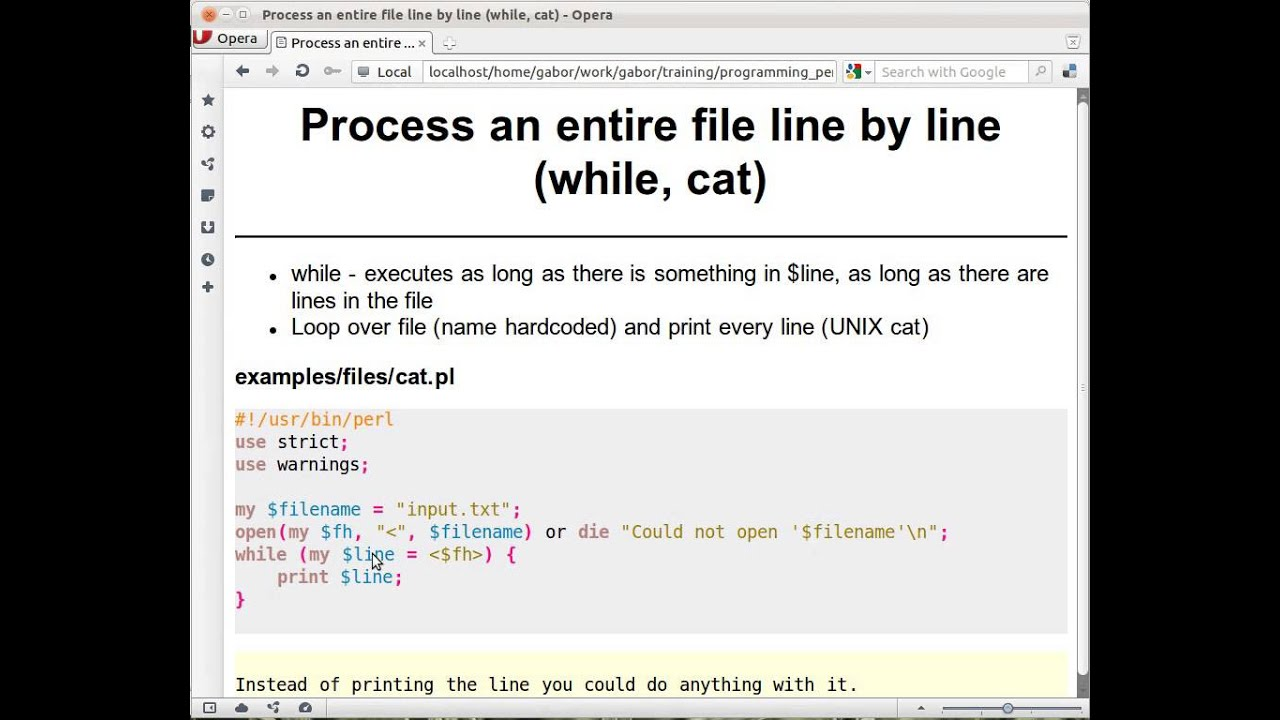 Read file line by line - video