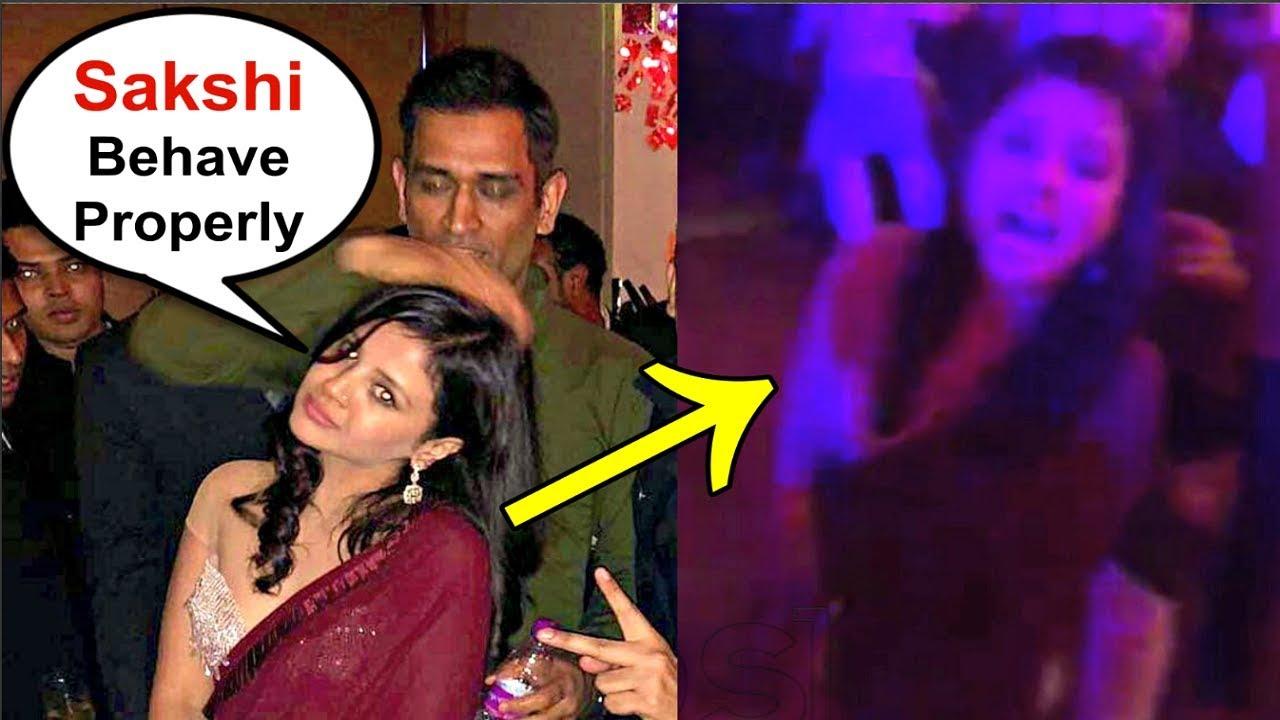 Ms Dhoni Wife Sakshi Dhoni Dance At Poorna Patel Wedding