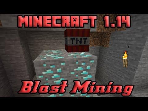 Minecraft Blast Mining In 1.14 💣💥 | Is It Useful Yet?