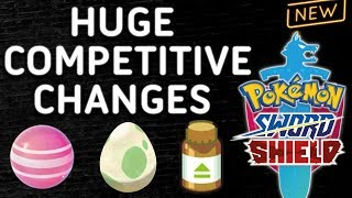 HUGE CHANGES FOR COMPETITIVE POKEMON! NEW ITEMS & FEATURES! Pokemon Sword and Shield! ⚔️🛡️