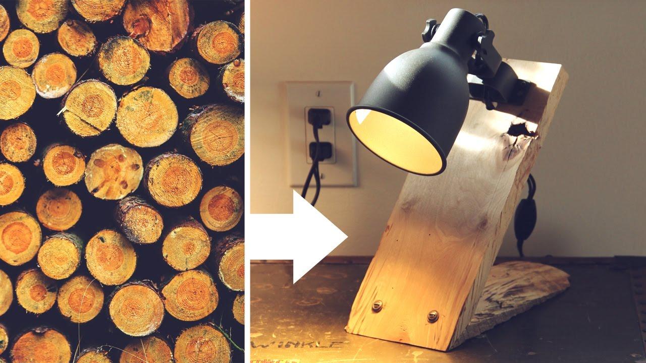 Lamp From A Log Hektar Ikea Hack