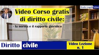 Diritto Civile - Video lezione n.1: La norma e il rapporto giuridico