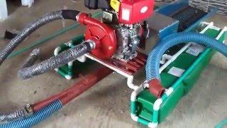 mini dredger 3 pulgadas motor 6.7 hp diesel