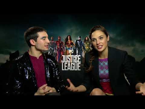 Justice League    Ezra Miller and Gal Gadot Generic Junket Interview    #SocialNews.XYZ