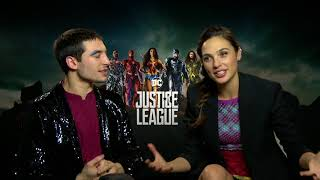 Justice League || Ezra Miller and Gal Gadot Generic Junket Interview || #SocialNews.XYZ