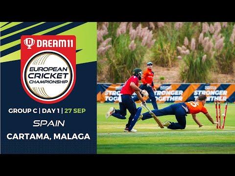 🔴 Dream11 European Cricket Championship   Group C Day 1 Cartama Oval Spain   T10 Live Cricket