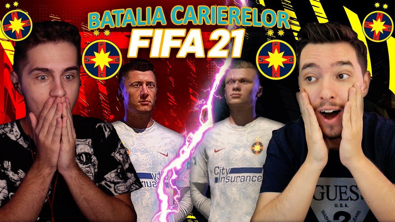 FIFA 21 LEWANDOWSKI VS HAALAND LA FCSB !!! BATALIA CARIERELOR CU FCSB ALATURI DE SINNER !!!