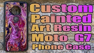 Custom Painted Art Resin Moto G7 Phone Case - Experimenting with Kenny Ep 2.