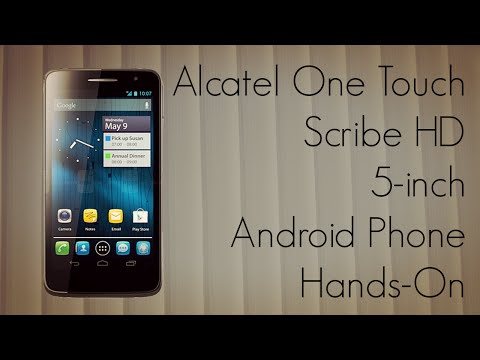 Alcatel One Touch Scribe HD 5-inch Android Phone Hands-On at CES 2013 - PhoneRadar